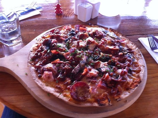 L'Hotel Restaurant and Bar: meatlovers pizza, 24$