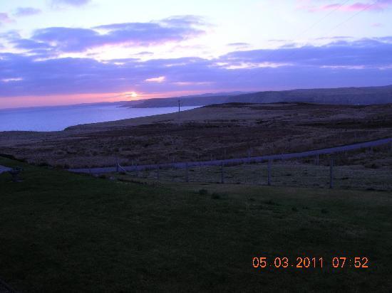 Sunrise ,looking east from Sharvedda across Strathy Bay
