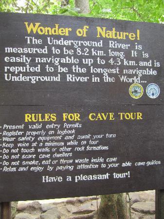 Puerto Princesa Underground River: another sign