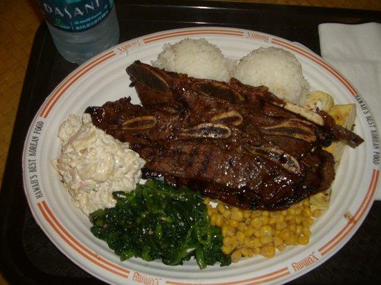 Yummy Korean BBQ: アラモアナSCのカルビプレート