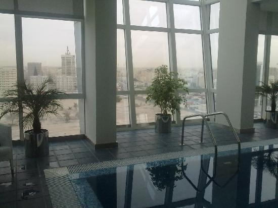 Ramada Encore Doha: The view from the pool side overlooks the north of Doha