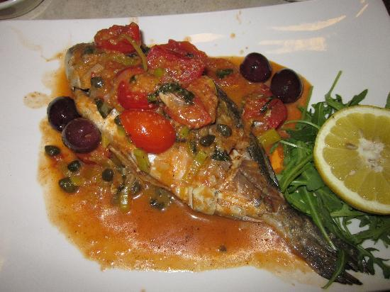 Excelsior Grand Hotel: sea bass- what to expect in food