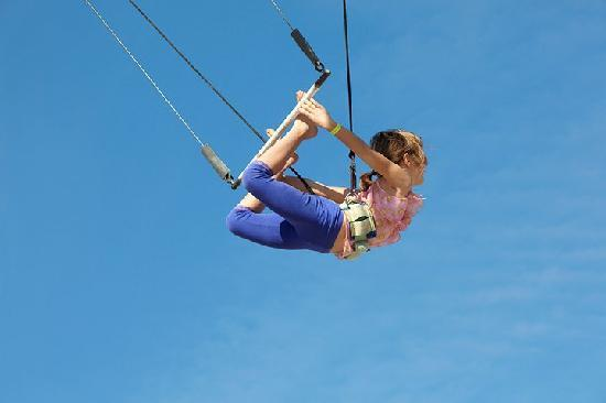 Club Med Sandpiper Bay: Swing on the trapeze!
