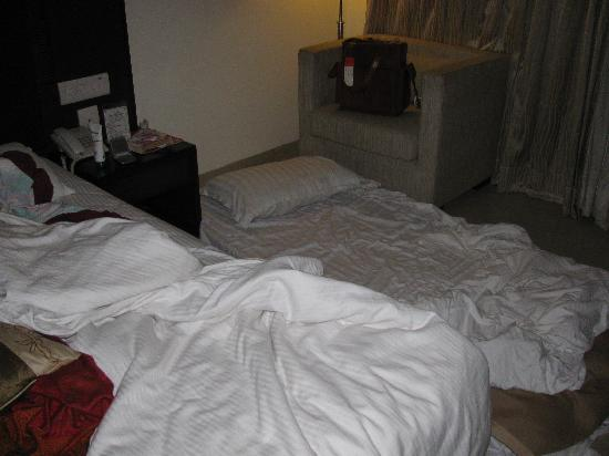 Hotel Alpine Tree: 3rd person's foam bed on the floor