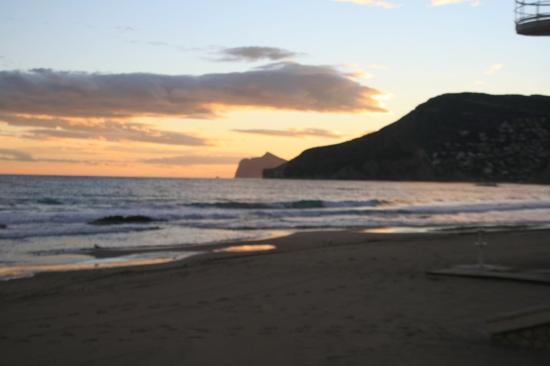 Playa Arenal-Bol: zonsondergang