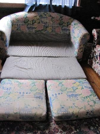 Enchanted Cottages: This is the full sie pull out bed!