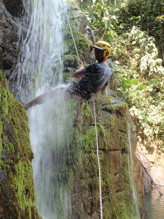 Costa Canyoning: On the last waterfall