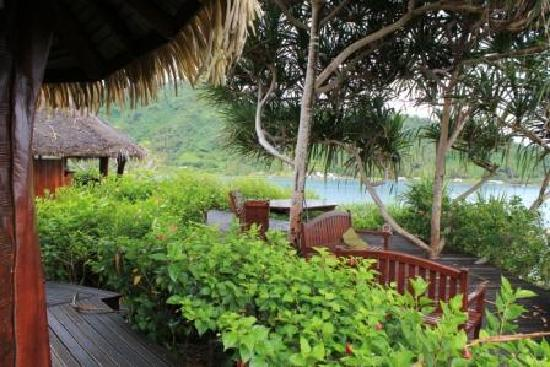 Tiare Breeze: Our private deck