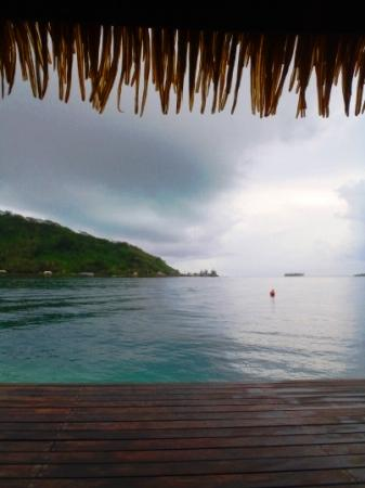 Tiare Breeze: View from the pontoon