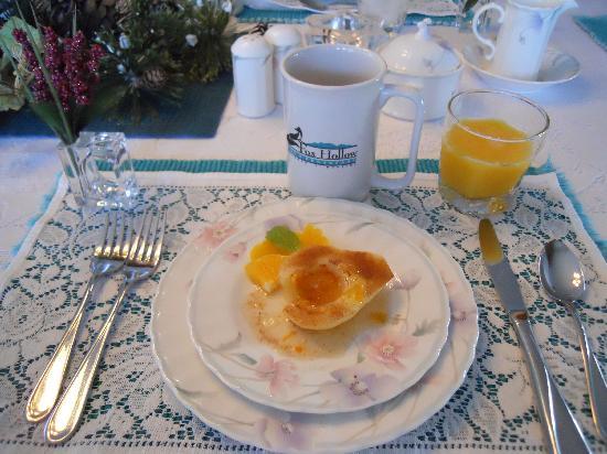Fox Hollow Inn: Delicious breakfast at Fox Hollow Bed & Breakfast