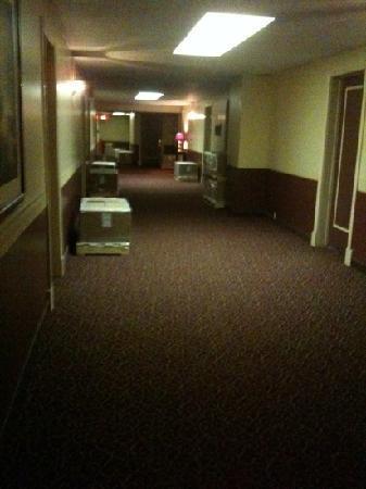 Hotel Senator Saskatoon: dark hallways