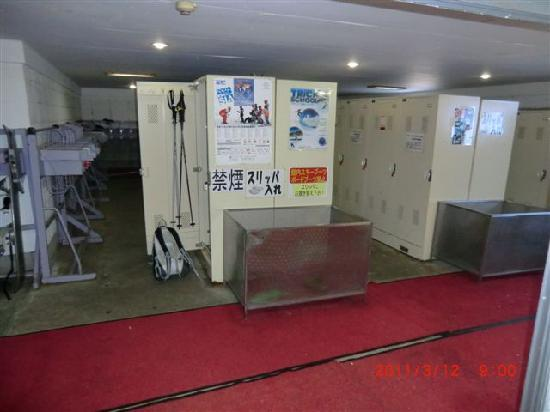 Hotel Radiant : 乾燥室(大型のスキーロッカー)