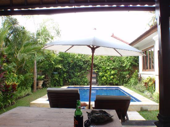The Zen Villas: View from daybed Serenity Villa F
