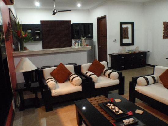 The Zen Villas: Looking from Lounge to kitchen Serenity Villa F