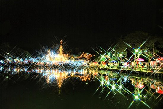 Mae Hong Son, Thailand: night view