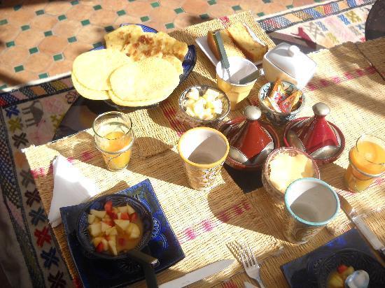 Riad Ajebel: los desayunos en la terraza