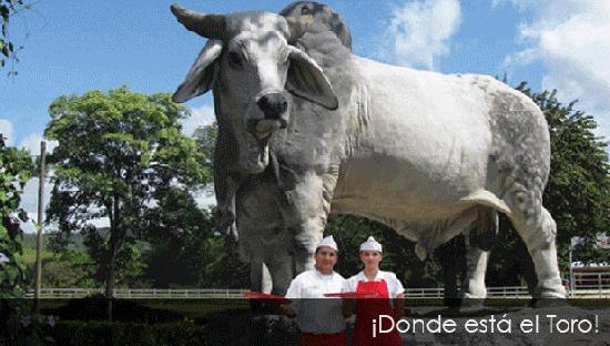 Restaurante BBQ Tres Hermanas : Donde esta el toro !!!