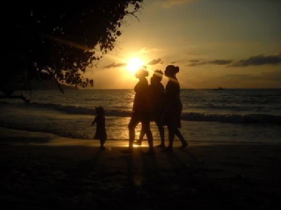 Clef des Iles : coucher de soleil