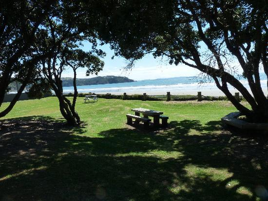 Edgewater Motel: The view from our patio door