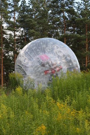 Zorbing in Riga with Zorb.lv