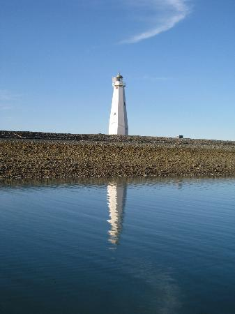 Boulder Bank Lighthouse - a register historical site with a great view of Nelson