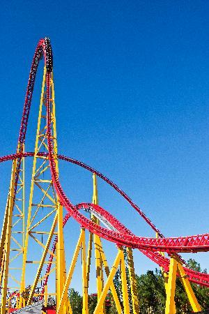 Kings Dominion: Intimidator 305 stands a whopping 305 feet-tall and reaches speeds over 90mph!