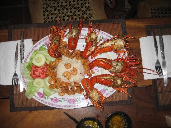 Masachapa, Nicaragua: Seafood dinner
