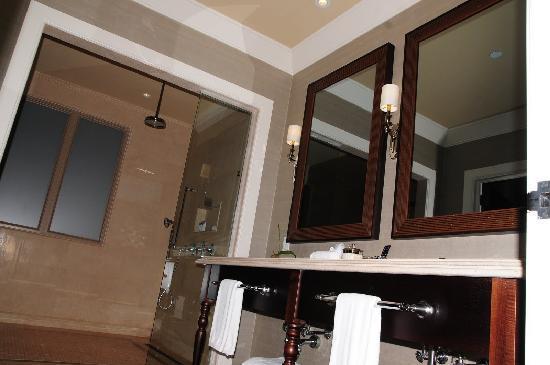 The St. Regis Bahia Beach Resort: bathroom...double sink and wetroom, rainshower