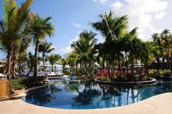 The St. Regis Bahia Beach Resort: the pool area