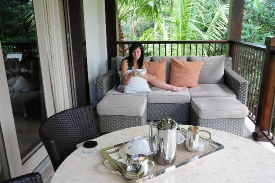 The St. Regis Bahia Beach Resort: our balcony