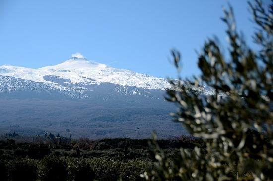 Randazzo, Italia: Blick von der Terrasse