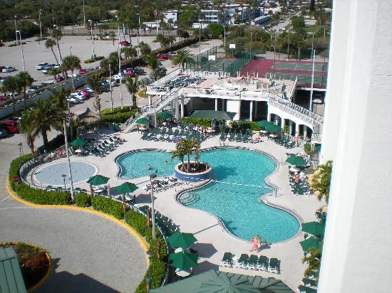 Resort on Cocoa Beach: View of the pool from the 8th floor