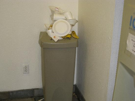 Super 8 Phoenix West I-10: trash can in lobby