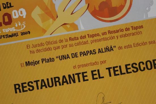 Papas Aliñá El Telescopio - La Tabla Restaurante