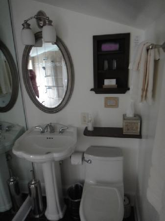 "Foster Harris House B&B: Not what I would expect from a ""suite"" bathroom."