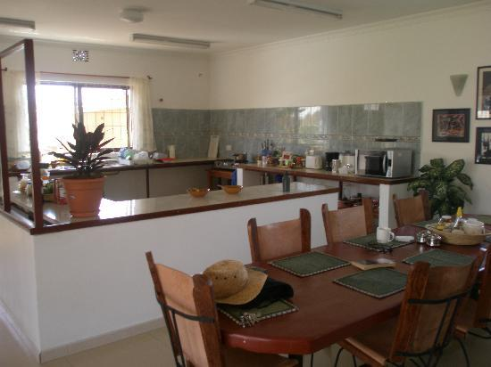 Adia's Place: The kitchen and dining area for breakfasts