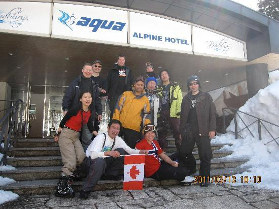 Aqua Alpine Hakuba : Very happy group!