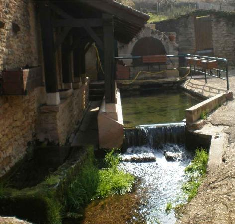 village water feature