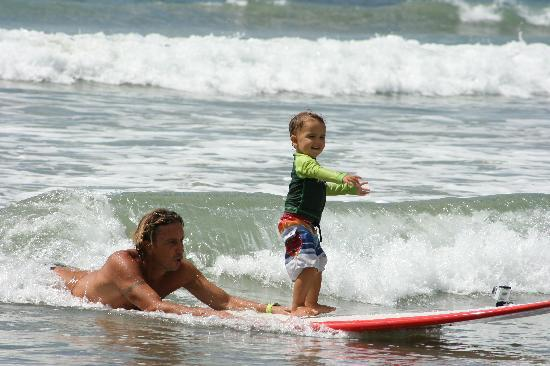 Frijoles Locos Surf Shop & Spa: Our youngest surf student at 25 months old!