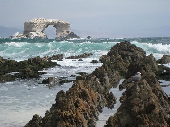 La Portada from the shore