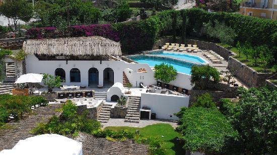 Grande Hotel Santa Domitilla: Giardini vista alto