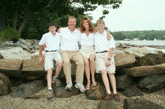 Boothbay Resort: Cody, Win, Lori & Riley Mitchell, Natives of the Boothbay Region.