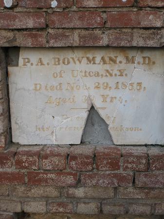 Jackson Pioneer Cemetery: Jackson Cemetery - oldest headstone we found, 1855