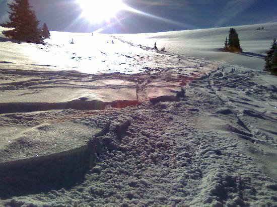 Keystone Ski Area: Our first run - down Bergman bowl