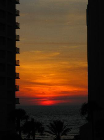 Clearwater Beach Hotel: sunset from 5th floor