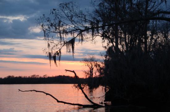 sunset on waccamaw river - pawleys island