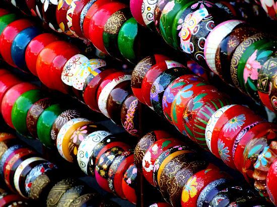 Chatuchak Weekend Market: Bangle stall