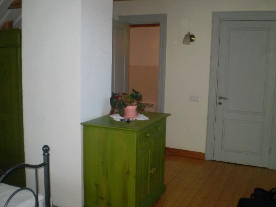 Country House Lantus: Another view towards the bathroom, front door to our room