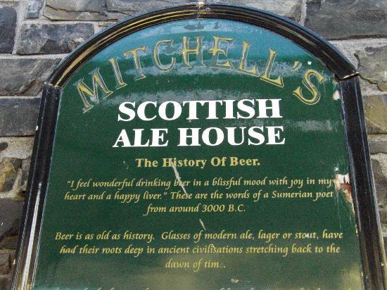 Mitchell's Scottish Ale House : Biergarten-Schild