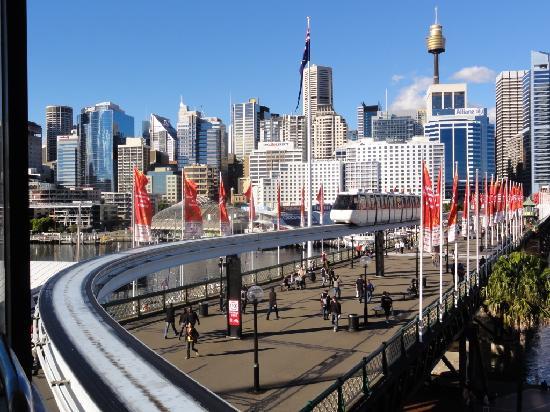Sydney, Australien: el monorail en darling harbour